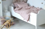 Linen duvet cover dusty pink