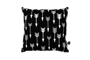 Pillow Arrows on Black