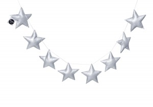 Silver Stars Garland (eco leather)