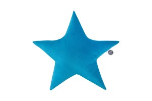 Velvet star pillow mosaic blue