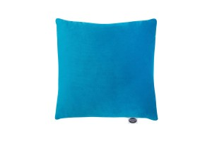 Velvet pillow 40x40 mosaic blue