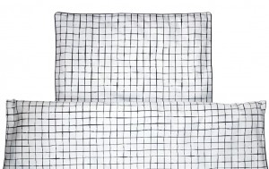 Duvet cover Grids on White