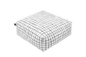 Floor Pillow Monochrome Grids