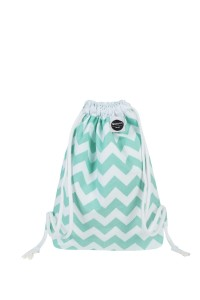 Backpack Mint Chevron