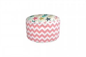 Pouf Stars Overpink